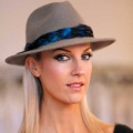 womens-grey-trilby-blue-feather-band-Holly-Young