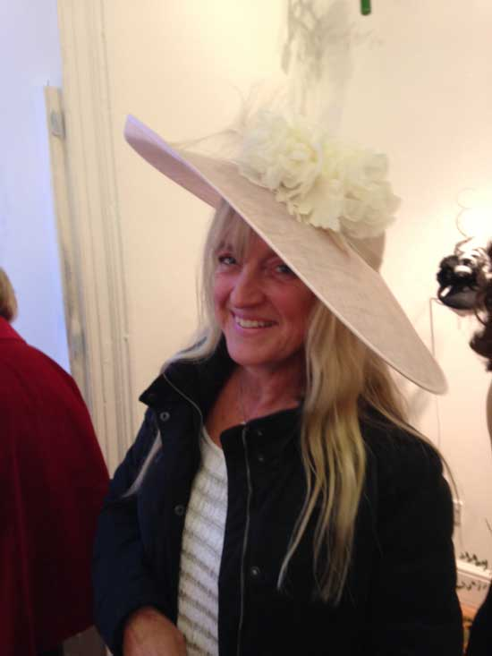 large pink and ivory hat mother of the bride