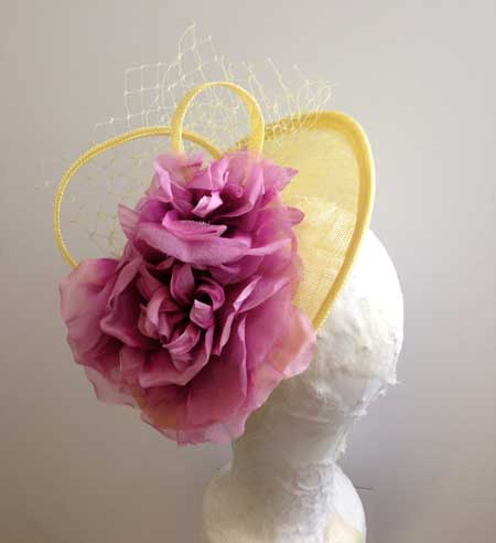 womens yellow ascot hat