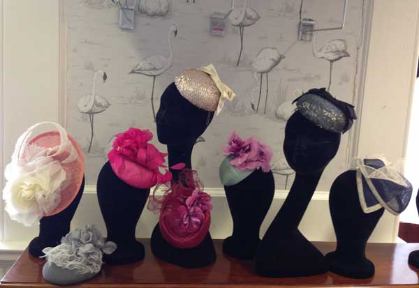 ladies wedding / races hats to hire in Cornwall